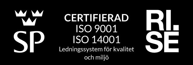 Certfierad ISO 9001 ISO 14001